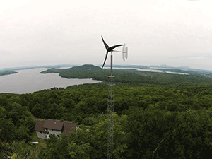 1.7-kW Pika Energy T701 wind turbine