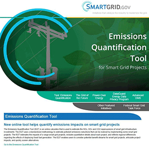 Emissions Calculator for Modern Grid Investments